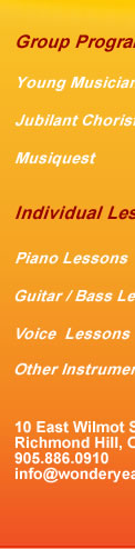 Music Lessons, Piano, Rock Band, Vocal Lessons in Richmond Hill, Canada